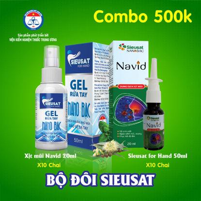 Ảnh của [SIEUSAT2-500K] Combo Nano Bạc siêu sát khuẩn: Xịt mũi Navid + Gel rửa tay for Hand